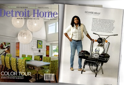 Desiree Kelly Art - Detroit based artist - Detroit Home Magazine. February/March 2017 issue