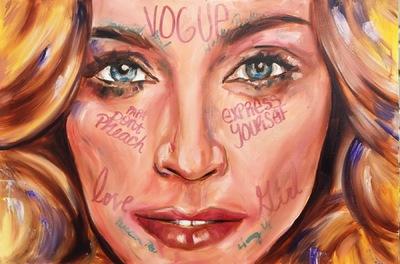 Desiree Kelly Art - Detroit based artist - Madonna (sold)