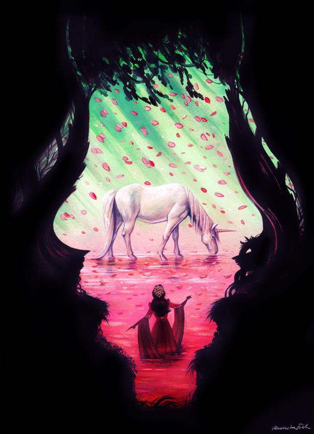 Veronica Fish   Illustration & Design - Lili and the Unicorn (Legend)
