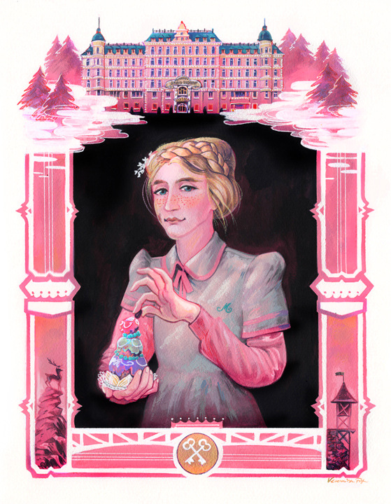 Veronica Fish | Illustration & Design - Agatha with Courtesan au Chocolat
