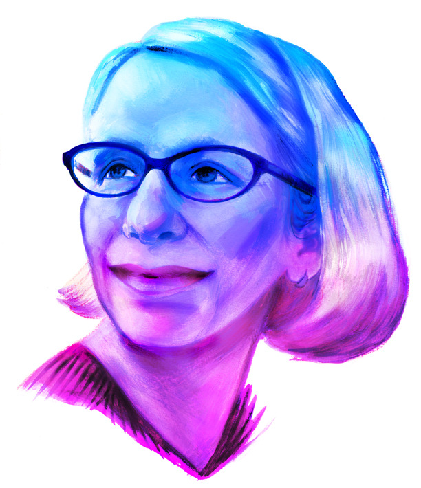 Veronica Fish | Illustration & Design - Roz Chast portrait for the New Republic Magazine