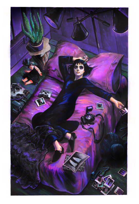 Veronica Fish | Illustration & Design - Lydia in Her Room (Beetlejuice)