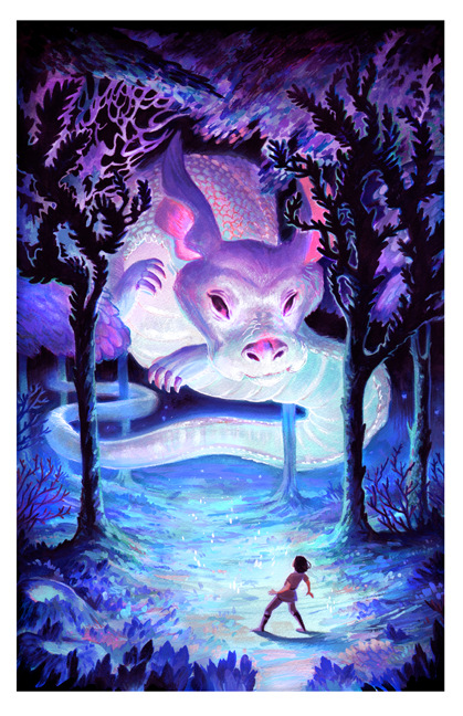 Veronica Fish | Illustration & Design - Falkor & Atreyu (The Never Ending Story)