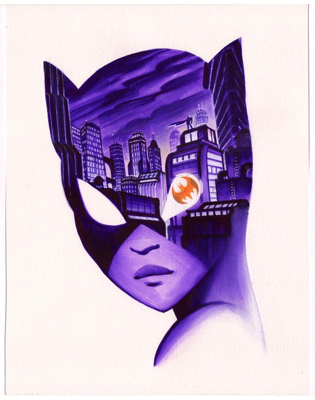 Veronica Fish   Illustration & Design - Catwoman