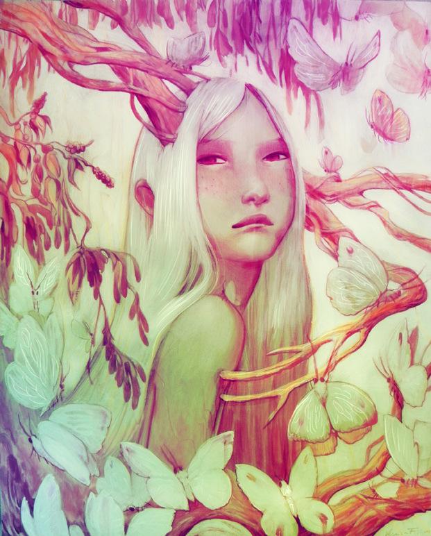 Veronica Fish   Illustration & Design - Mori no Ga (Moth Forest) 2015