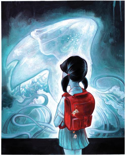 Veronica Fish   Illustration & Design - Chie at the Aquarium (2008)