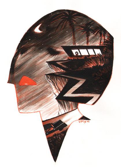 Veronica Fish   Illustration & Design - LA Noir