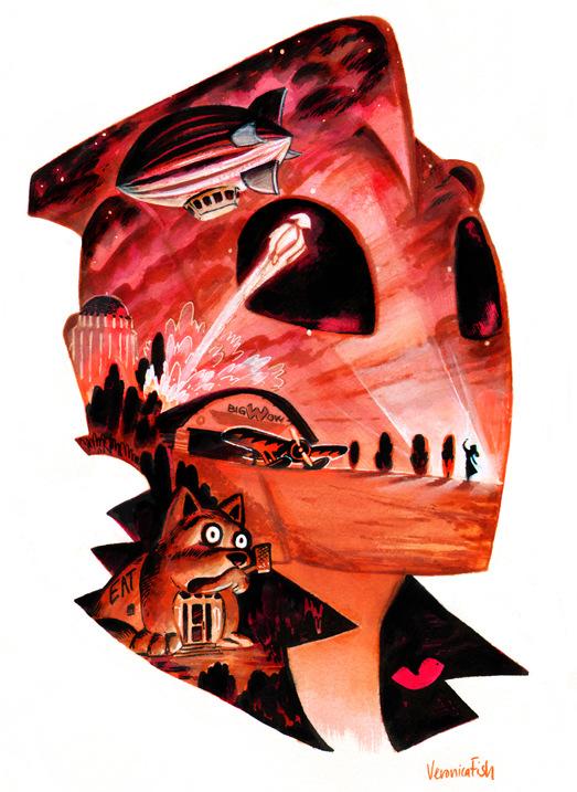 Veronica Fish   Illustration & Design - The Rocketeer