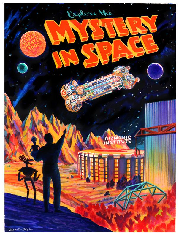 Veronica Fish   Illustration & Design - Mystery Science Theater 3000