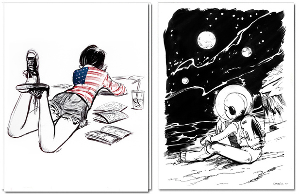Veronica Fish | Illustration & Design - American Pop & Adam on the Moon