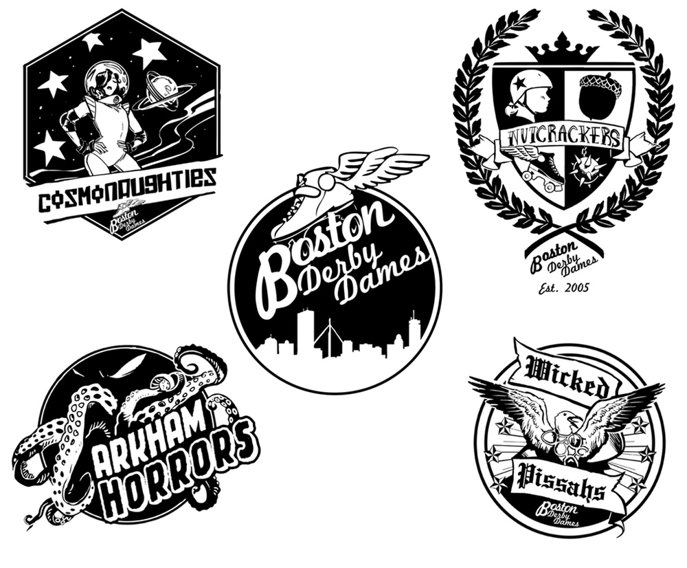 Veronica Fish | Illustration & Design - Boston Derby Dames
