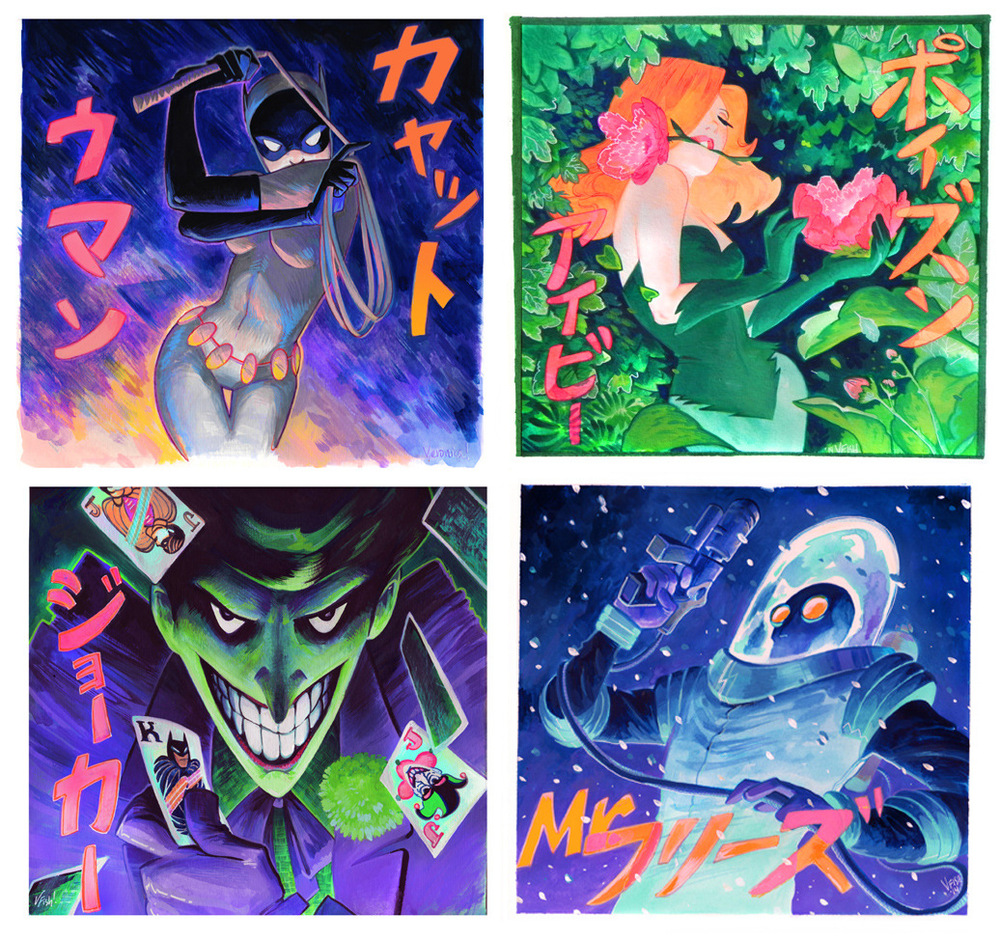 Veronica Fish   Illustration & Design - Batman Rogues Gallery Squared Series