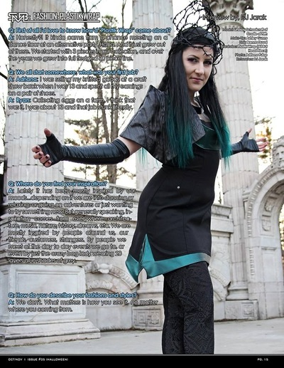 costume and fashion designer - Photography: Adriana Fulop Model: Lindsay Shcoolcraft of Craddle of Filth