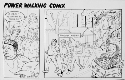 SELENA KIM - Power Walking Comix, 2014