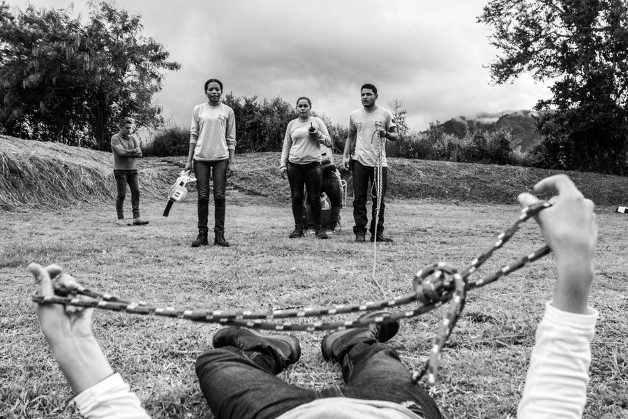 Alexis Aubin - Rescue simulation at the Colombian Campaign to Ban Landmines base. May 8th 2017 - Algeciras, Huila, Colombia