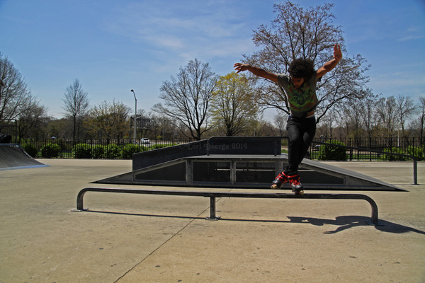 Lori George Photography - Aggressive inline skater Jonathan at Allerton Skate park in The Bronx. Friday|April 25,2014