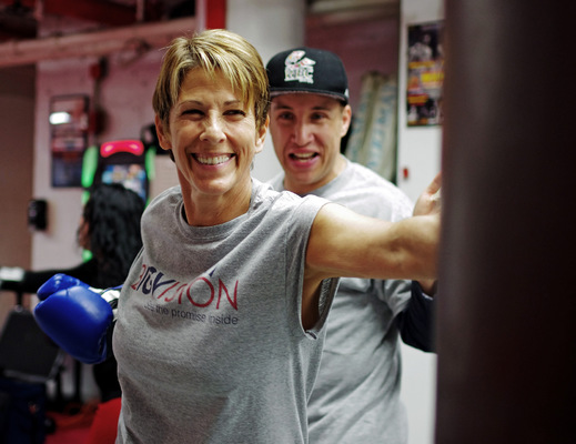 Lori George Photography - Eve Goldberg founder of BIGVISIONNYC with WBC Boxing Champion Boyd Rainmaker Melson|Sunday May 15,2016