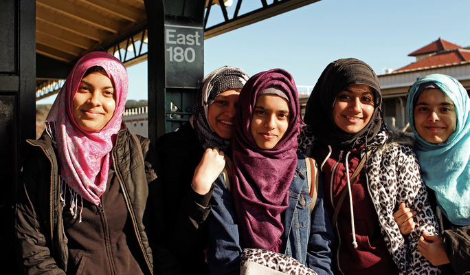Lori George Photography - Teenagers from The Bronx at 180th street train station|December 2015