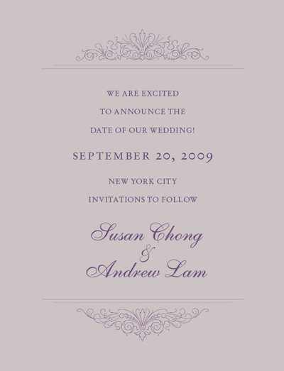 Suet Chong Design - Susan and Andrew Wedding