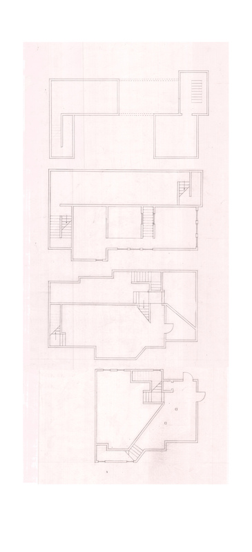 Justin Manley - Plans of the building. Both residences form a single fluid space.