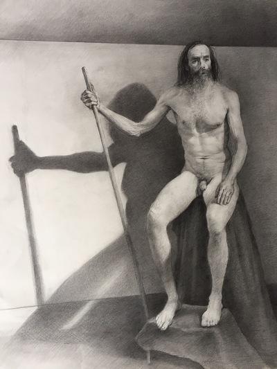 LoPresti Arts - Man and Stick, 2016