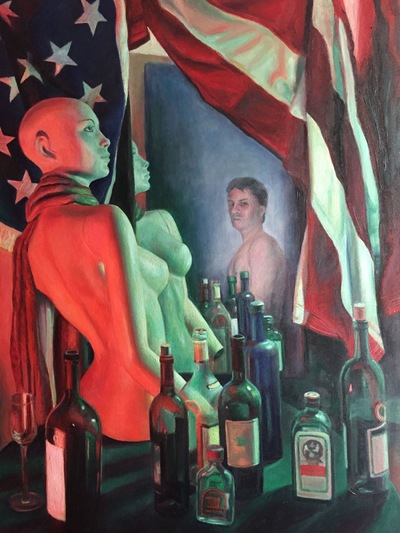 LoPresti Arts - Bottlescape, dummy, and flag 2016