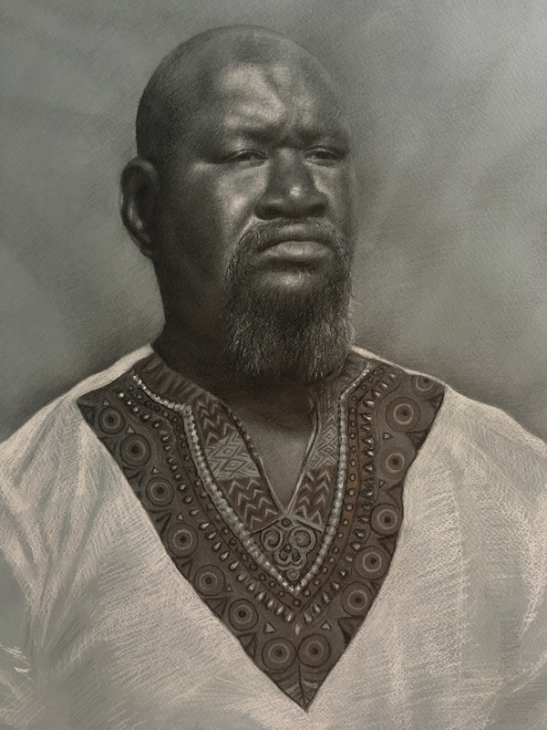 LoPresti Arts - Marmadou, on toned paper, 2017