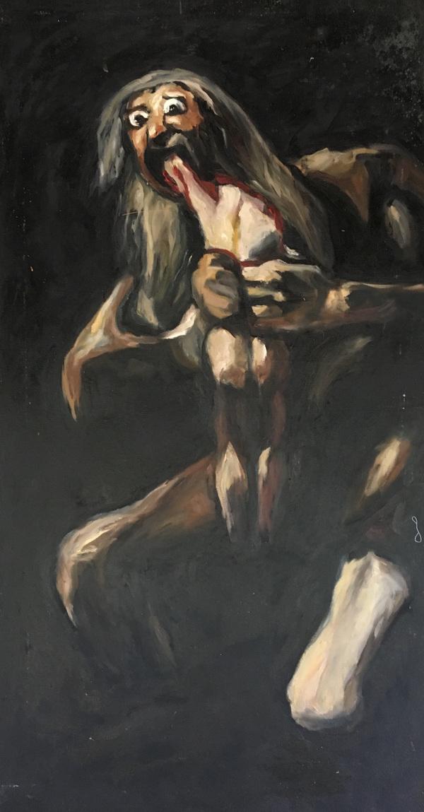 LoPresti Arts - Goya, Saturn Devouring his Son, 2003