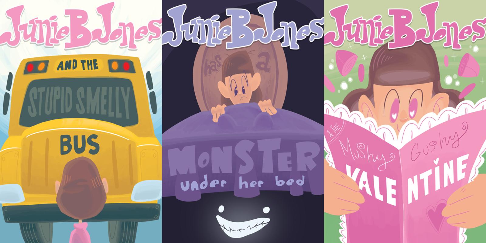 Connor Shipway - Junie B. Jones Book cover interpretation of a childrens series.