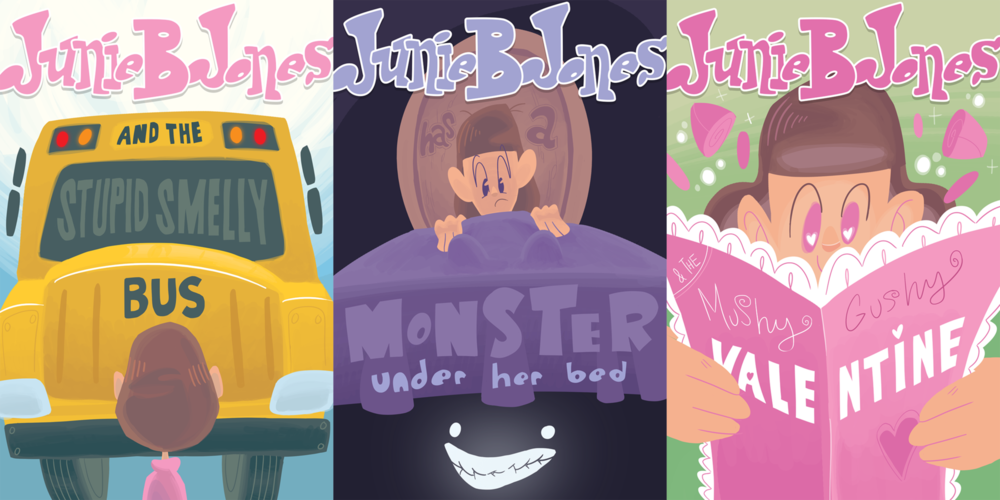 Connor Shipway - Junie B. Jones Book cover interpretation of a childrens series.