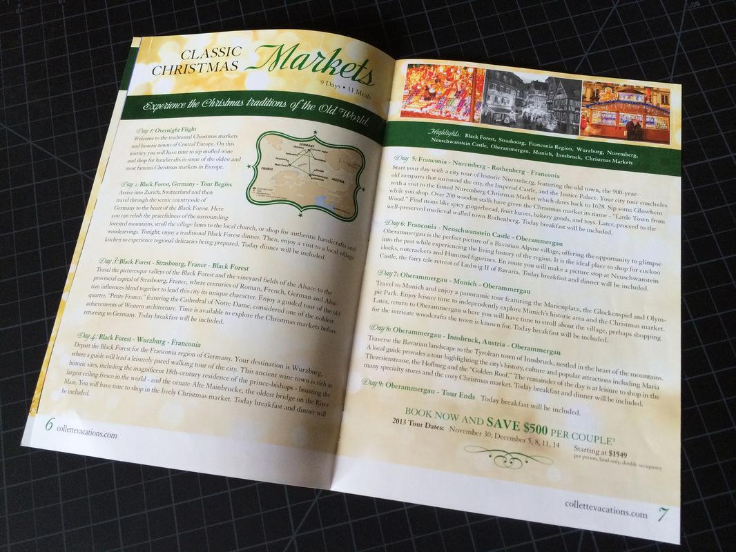 collette mini holiday brochure - jenna foster | graphic designer