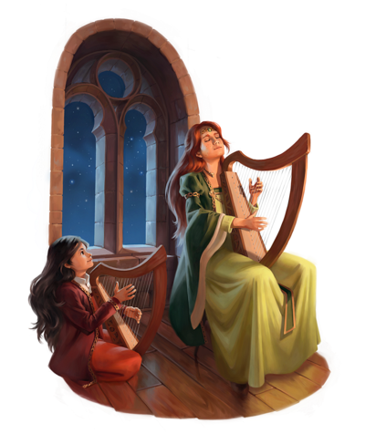 Aliciane (Elésiane Huve) | Freelance Illustrator, Digital Painter, Concept Artist - [Morgan le Fay] Harp Lessons
