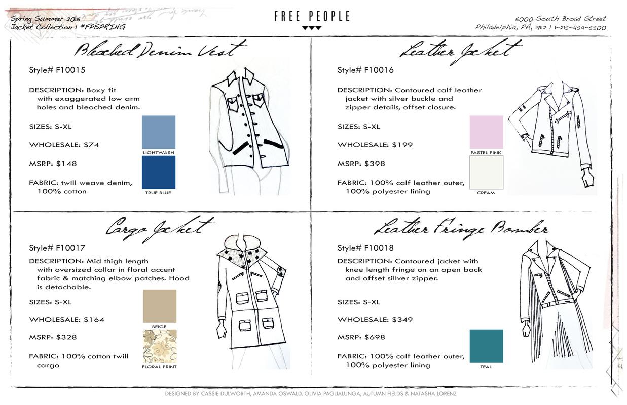 Free People Line Sheet - Cassie Dulworth | Fashion Merchandiser