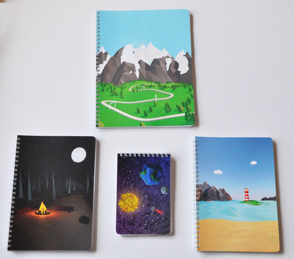 Maram Alesayi | Graphic and Motion Designer - Notebook Set