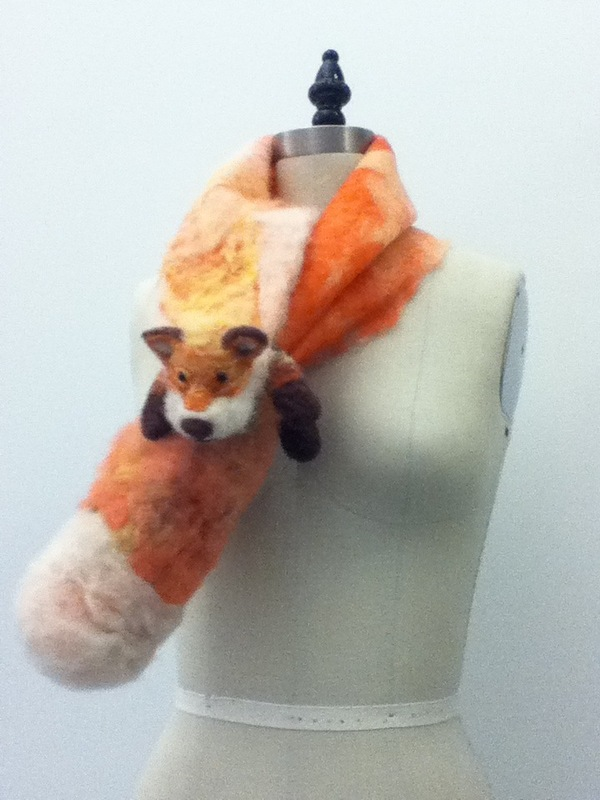 Jessica DeLuca Fashion Designer - Nuno and needle felted scarf
