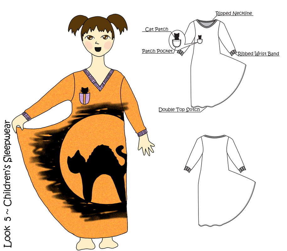 Jessica DeLuca Fashion Designer - Look 5 | Done in Adobe Photoshop & Illustrator