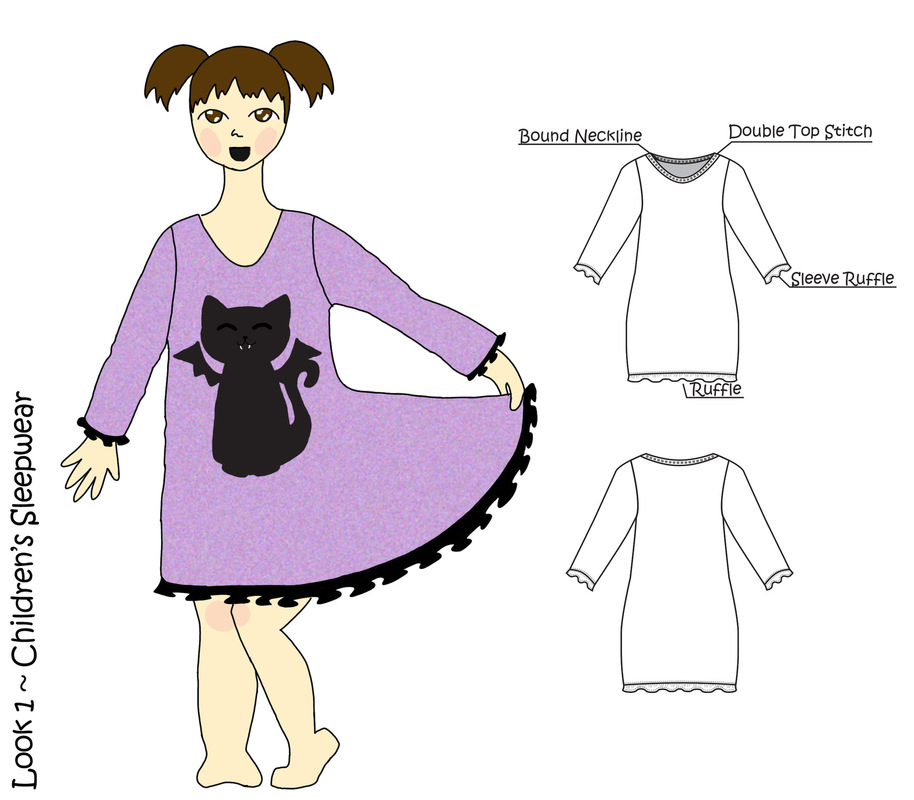 Jessica DeLuca Fashion Designer - Look 1 | Done in Adobe Photoshop & Illustrator