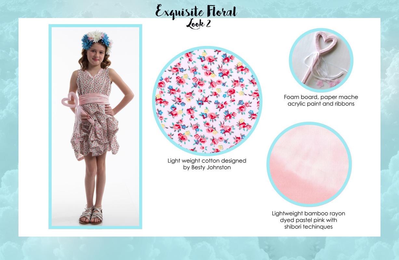 Jessica DeLuca Fashion Designer - Exquisite Floral: Look 2