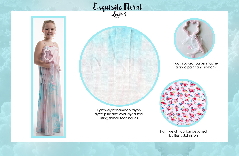 Jessica DeLuca Fashion Designer - Exquisite Floral: Look 3