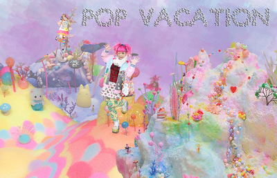 Jessica DeLuca Fashion Designer - POP VACATION [Print project inspired by pastel pop art and Japanese decora fashion]