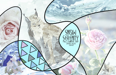Jessica DeLuca Fashion Designer - SNOW SERENITY [collection inspired by texture, game art, and flowers]
