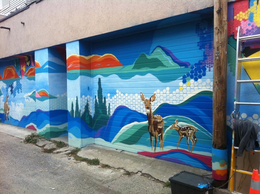 Monica Wickeler - formerly a heavily vandalized wall