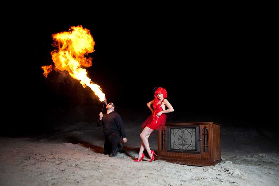 Banks Media - Devil In A Red Dress Model: Deanna Marie Fire Breather: Jeff Crag
