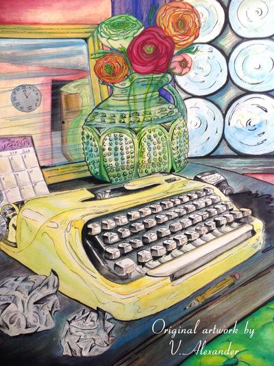 Vanessa Velez Art - Gouache and Pen on paper
