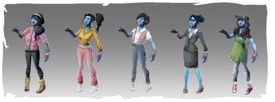 Lauren Cason - Zombie Horde Concepts, Photoshop