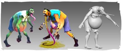 Lauren Cason - Spitter Model, Original Concept by Damon Ianuzelli, Model and textures by me. Photoshop, Maya