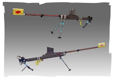 Lauren Cason - Boys Anti-Armour Rifle Concept and Model, Photoshop, Maya