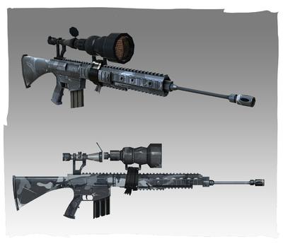 Lauren Cason - Sniper Rifle Concept and Model, Photoshop, Maya