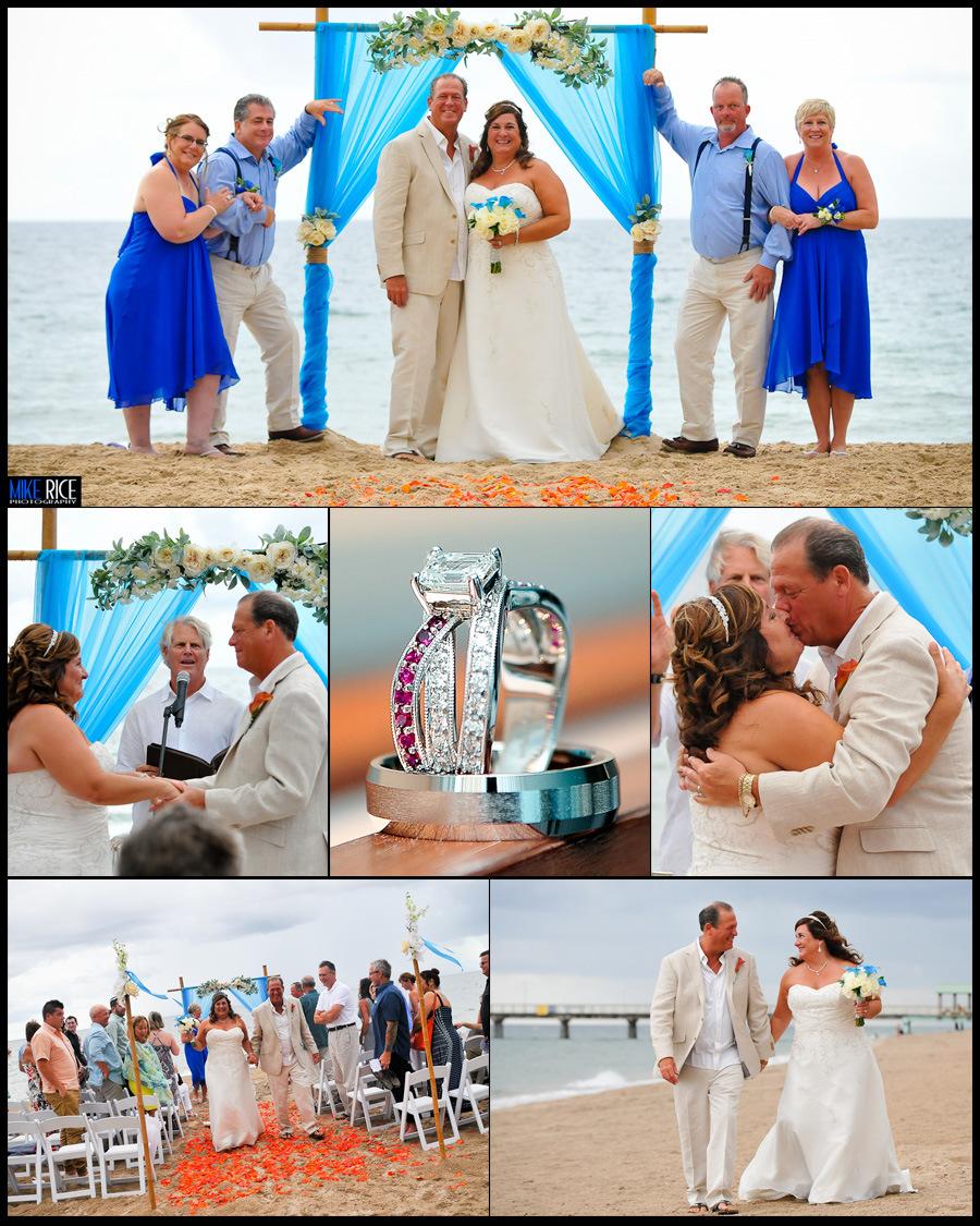 Wedding Photography - North Carolina - destination wedding photography, mike rice photography, judy and emileo, wedding bells and seashells, beach wedding