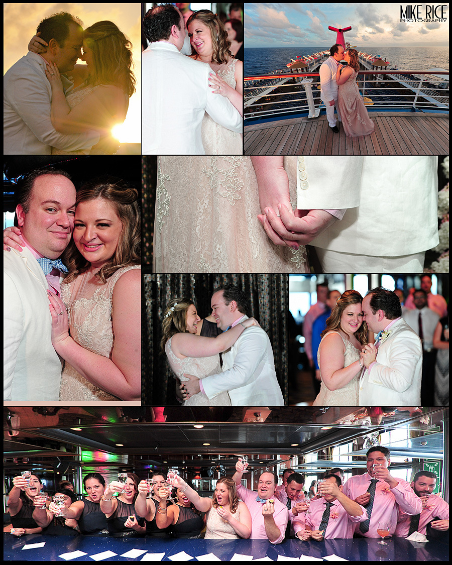 Wedding Photography - North Carolina - carnival sensation, destination wedding, mike rice photography, michele and ryan, mexico, bahamas
